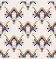 tribal seamless pattern with bull skull vector image
