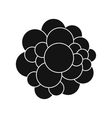 Virus black simple icon vector image vector image