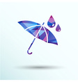 waterproof icon water proof symbol umbrella vector image