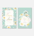 wedding invitation card daisy chamomile flowers vector image