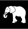 elephant white color icon vector image