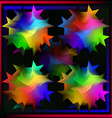 Undulating multicolored balls abstraction vector image