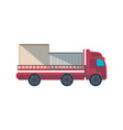 lorry truck with containers side view icon vector image