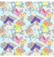 Pattern winter cats in scarves vector image