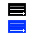 add file icon plus on paper vector image vector image