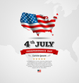 American Flag map for Independence Day vector image vector image
