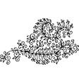 Baroque Pattern vignette CXXI vector image