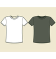 Black and white t-shirt design template vector image vector image