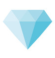 blue diamond icon on white background blue vector image