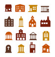buildings icon set for web sites and user vector image vector image