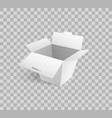 cardboard icon mockup of carton box 3d isometric vector image vector image
