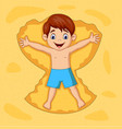 cartoon boy playing on sands vector image