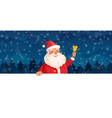 cartoon christmas santa claus winter holiday vector image vector image