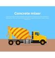 Cement Mixer Truck Banner Flat Design