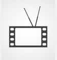conceptual tv vector image