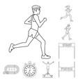 design exercise and sprinter logo vector image vector image