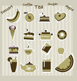 dessert icons vector image