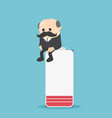 elderly business people with low energy battery vector image
