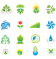 environment set of icons vector image