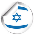 flag of israel in round shape vector image vector image