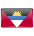 Flags Antigua and Barbuda in the form of a magnet vector image