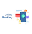 for online banking concept vector image