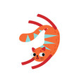 funny red cat cute animal pet character vector image vector image