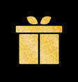 gift box of glitter golden background vector image vector image