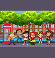 group of children from different cultures vector image