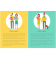 happy family poster text sample people in circle vector image vector image