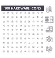 hardware line icons signs set outline vector image vector image