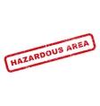 Hazardous Area Rubber Stamp vector image vector image