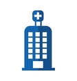hospital building isolated icon vector image vector image