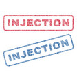 Injection textile stamps