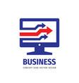 internet business - logo concept vector image vector image