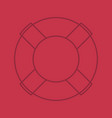 life ring color linear icon vector image