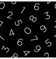 line art numeric seamless pattern vector image