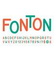 line sans serif font hand drawn artistic alphabet vector image vector image