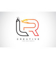 lr creative modern logo design with orange and vector image vector image