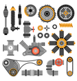 Machinery Parts Set vector image vector image