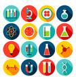 medical science flat icons vector image