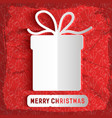 merry christmas paper template vector image