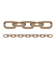 Metal chain links vector image vector image