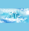 moisturize cosmetic advertising promo template vector image