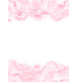 pale pink watercolor texture background vector image vector image