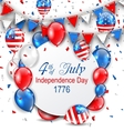 Party Background with Traditional American Colors vector image vector image