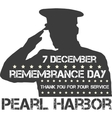 Pearl Harbor Remembrance day vector image vector image