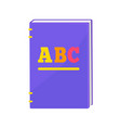 primer book with hardcover vector image vector image