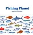 seamleess border fish vector image vector image