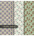seamless fabric patterns set vector image vector image